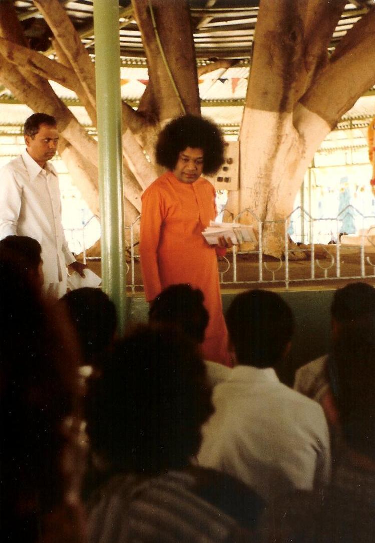 44. A closer view of SB giving darshan, Brindavan, 1981 001